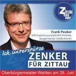 """Frank Peuker, Bürgermeister in Großschönau: """"Gerade auch als Zittauer Bürger unterstütze ich Thomas Zenker, weil er sich für den Süden unseres Landkreises mit Zittau als Mittelzentrum einsetzt. Die Bedeutung unserer Region für das Ganze muss sich auch im Einfluss auf Entscheidungen widerspiegeln. Wir brauchen im Naturpark Zittauer Gebirge und im Dreiländereck mehr Miteinander. Dafür ist Thomas Zenker der Richtige."""""""